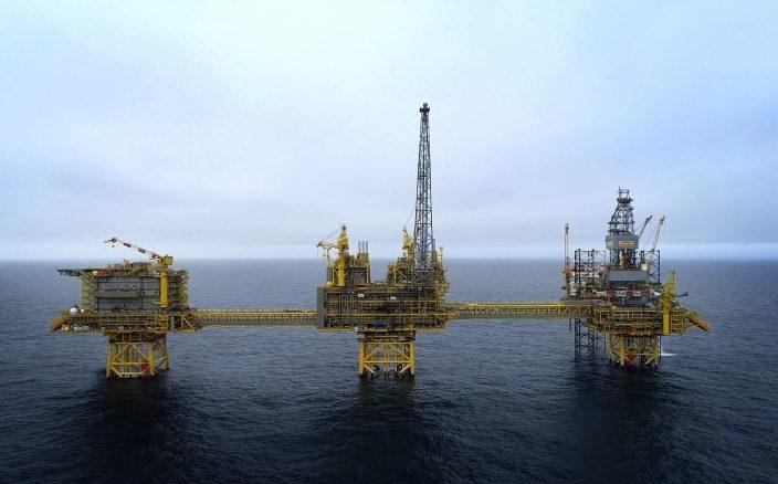 Une installation pétrolière offshore de Total