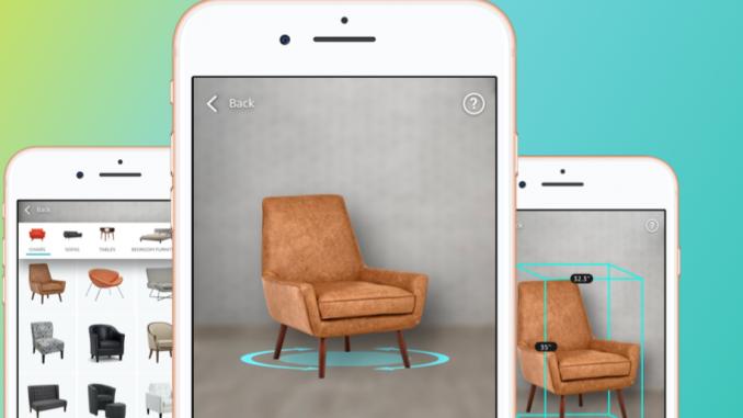 Amazon propose depuis quelques semaines en France la réalité augmentée pour 20 000 produits de décoration et d'ameublement.