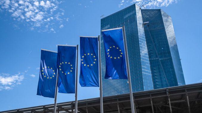 Le siège de la Banque centrale européenne (BCE) à Francfort-sur-le-Main, en Allemagne.