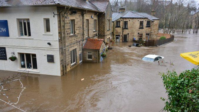 Des inondations en Irlande en 2015.
