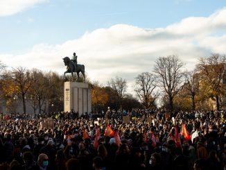 Manifestation des Gilets Jaunes à Paris, 21/11/2020.