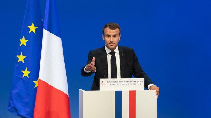 Emmanuel Macron, président de la République Lors du 42e congrès de la Mutualité Française à Montpellier le 13/06/2018
